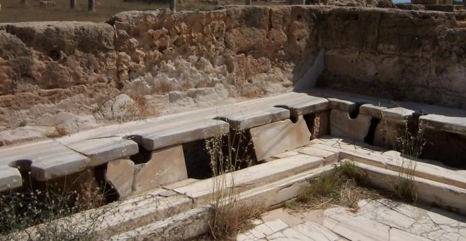 로마시대 공중 화장실.  - 크레이그 테일러 영국 캠브리지대 연구원 제공